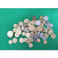 Украина, набор 88 монет: 1, 2, 5, 10, 25, 50 копеек, 1 гривна. Разные года, из оборота