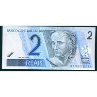 Бразилия 2 реала 2003 UNC