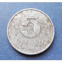 5 пфеннигов 1968 год (А) ГДР #02