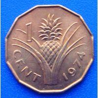 6602:  1 цент 1974 Свазиленд