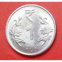 01-24 Индия, 1 рупия 2012 г.