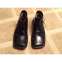 Ботинки мужские кожаные на натуральном меху.