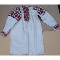 Сорочка домотканая льняная (рубашка, вышиванка) 1924-1925 гг.