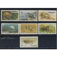 GB Канада 1977-81 Фауна Стандарт #650,680,722,764-5,734-5