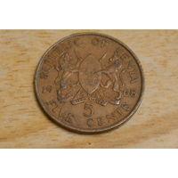 Кения 5 центов 1968
