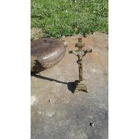 Крест латунь старинный.