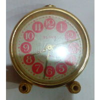 Часы-будильник SLAVA, 11 камней, сделано в USSR