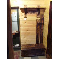 Вешалка- прихожая деревянная под заказ.для баньки и т.д.ручная работа.