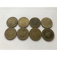 Тунис 100 милимов 8 монет - погодовка без повторов