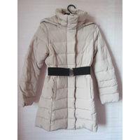 Пальто пуховое с капюшоном Италия Sisley