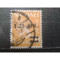 Финляндия 1931 стандарт, герб Надпечатка 1,25 мк