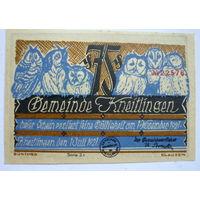 Германия. 75пфеннигов 1921г.