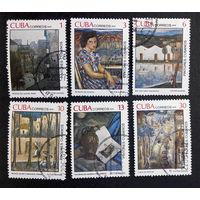 Куба 1979 г. Живопись. Виктор Мануэль Гарсия. Культура. Искусство, полная серия из 6 марок #0070-И1P16