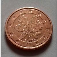 1 евроцент, Германия 2005 G, UNC