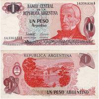 Аргентина 1 песо образца 1983-84 года UNC p311a(2)