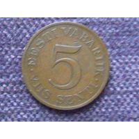 5 сентов 1931г. Эстония.