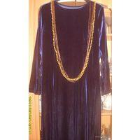 Вечернее бархатное платье, р-р 52-54
