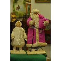 Дед Мороз и Снегурочка  ( 44 см ; 30 см)