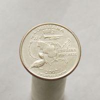 США 25 центов 2002 D Луизиана