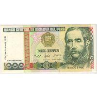 Перу, 1000 инти 1988 года, B5837640E, UNC