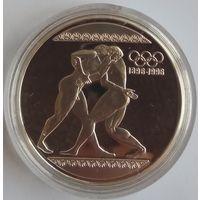 Греция 1000 драхм 1996 года. Борьба. Серебро. Оригинальная капсула. ПРУФ!