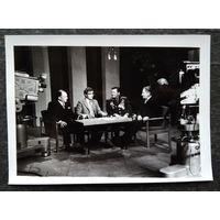 Фото записи телепередачи на ЦТ. 1980-е. 13х18 см.
