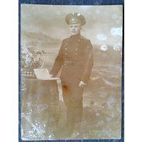 Военнослужащий царской армии. Владивосток. До 1914 г. 8.5х11.5 см.