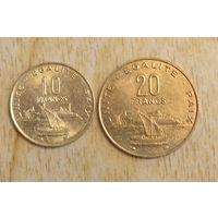 Джибути 10 и 20 франков 1996