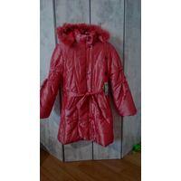 Куртка зимняя новая на девочку 9-12 лет