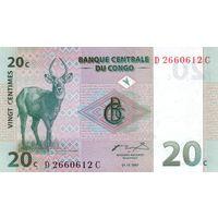 Конго 20 сантимов образца 1997 года UNC p83