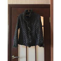 Зимнее пальто с натур мехом и пухом, L, как новое