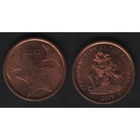 Багамы km218.2 1 цент 2009 год (f31)**