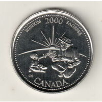 Канада 25 цент 2000 Мудрость