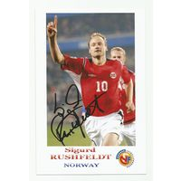 Sigurd Rushfeldt(Норвегия). Фотография с живым автографом.