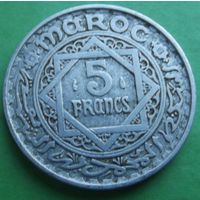 Марокко. 5 франков 1951. Много лотов в продаже.