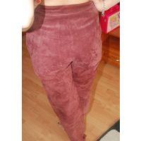 Шикарные замшевые брюки Кожа р. 44-46