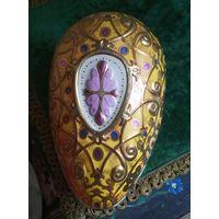 Старое Пасхальное яйцо шкатулка металл коробка
