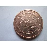 5 евроцентов, Германия 2002 G, AU