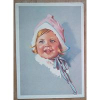 Портрет девочки. Германия. 1960-е Подписана.