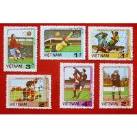 Вьетнам. Футбол. ( 6 марок ) 1986 года.
