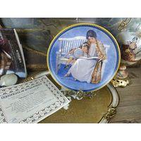 Декоративная тарелка фарфор номерная коллекционная Mothers day knowles День матери