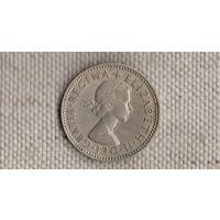 Великобритания 1 шиллинг 1960/три льва в щите(Uss)