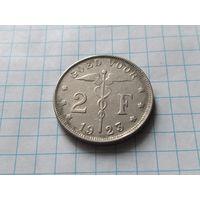 Бельгия 2 франка, 1923 Надпись на голландском