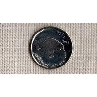 Фиджи 50 центов 2012 /фауна/корабль//FV/