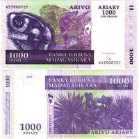 Мадагаскар. 1000 ариари (образца 2004 года, P89b, UNC)