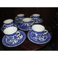 Сервиз кофейный 6 чашек и 6 блюдец High Guality(Превоходное качество)