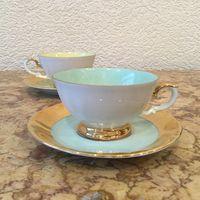 Чашка с блюдцем (кофейная пара) Бирюзовая нота, Германия