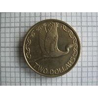 Новая Зеландия, 2 доллара 1991 г.