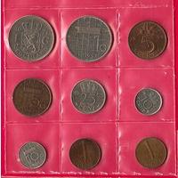 Нидерланды. Набор из 9 монет