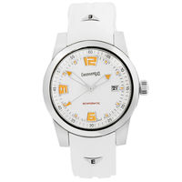 """Новые механические часы класса """"люкс"""" Eberhard & Co модель Scafomatic, редкое исполнение. Автоподзавод. Сапфир. Оранжевый люм. 42 мм. Сертификат COSC."""
